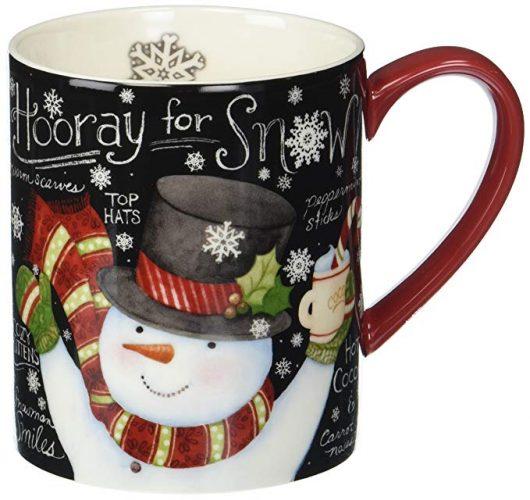 Lang Chalkboard Snowman Mug by Susan Winget - Christmas Mugs