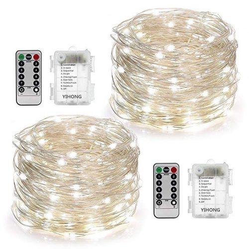 YIHONG 2 Set String Lights 8 Modes 50LED Fairy Lights - LED String Lights for Christmas