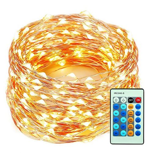 99 Feet 300 LEDs Copper Wire String Lights Dimmable - Christmas LED Wire Lights