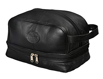 Mens Toiletry Bag Shaving Dopp Case For Travel by Bayfield Bags - Men Toiletry Bags