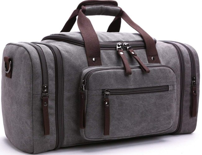 Canvas Duffel bag Overnight Bags - Weekender bag for men