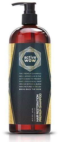 Active Wow Argan Oil & Organic Botanicals Anti Hair-Loss Shampoo - Hair Re-growth Product for Men