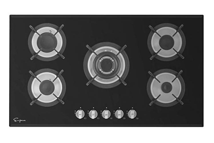 Empava Black Tempered Glass -36GC204 - Gas Cooktops