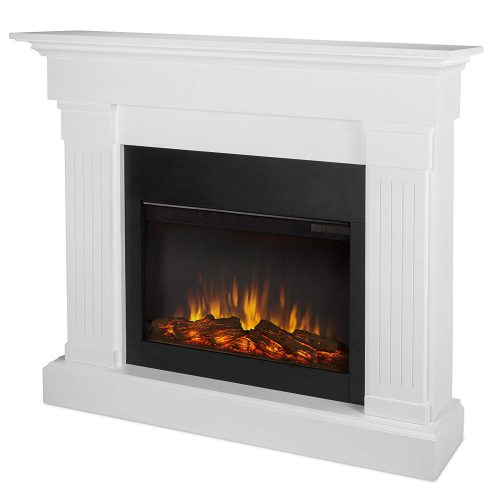 Real Flame 8020E-W Crawford Electric Fireplace, White