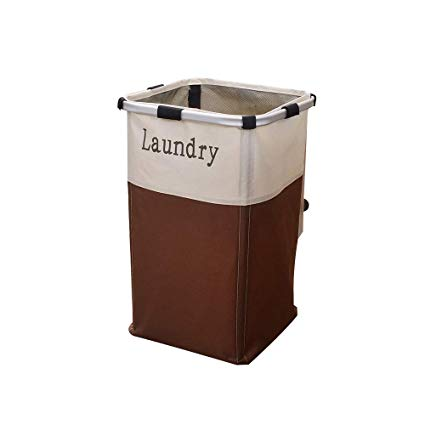 IHOMAGIC Laundry Hamper Waterproof Laundry Basket with Easily Transport Detachable Laundry Bag for Home Apartment School Dorm