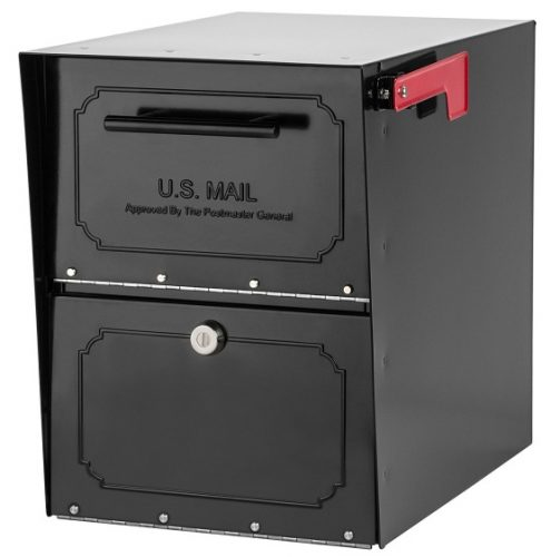 Architectural Mailboxes 6200B-10 Oasis Classic Locking Post Mount Parcel Mailbox with High-Security Reinforced Lock