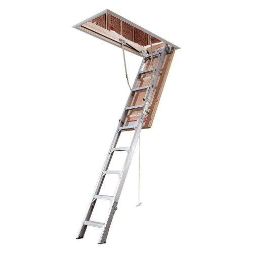 Attic Ladder, IAA, 375 lb., 3 in. Step W - Attic Ladders