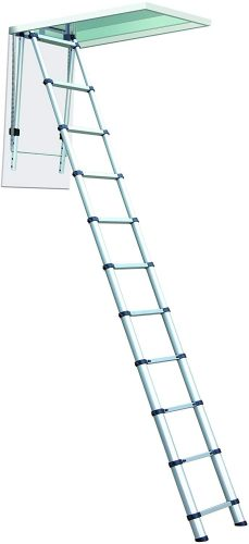 Telesteps 1000L OSHA Compliant 7-10 ft Ceiling Heights Telescoping Attic - Attic Ladders