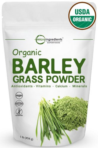 Sustainably US Grown, Organic Barley Grass Powder, 1 Pound, Rich Fiber, Vitamins, Minerals, Antioxidants, Chlorophyll, Essential Amino Acids, and Protein. Non-Irradiated, Non-GMO and Vegan-Friendly.