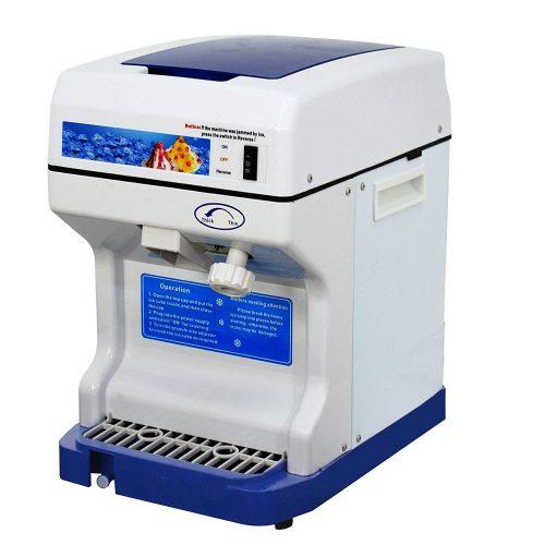ZENY Ice Crusher Maker Commercial Ice Shaver Snow Cone Maker Equipment Machine (White)