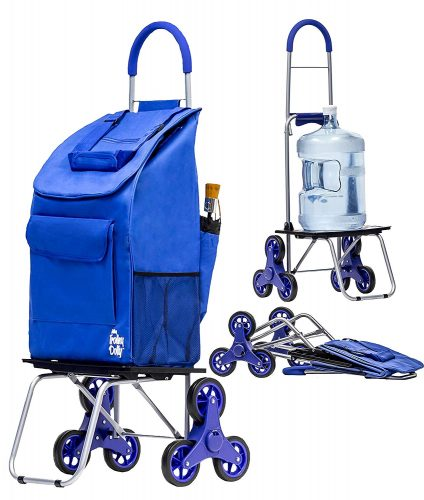 Stair Climber Bigger Trolley Dolly Shopping Cart, Blue