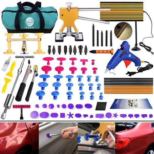 GLISTON DIY Paintless Dent Repair Kit 89pcs Dent Puller Slide Hammer PDR Tools for Car Hail Damage Dent & Ding Remover