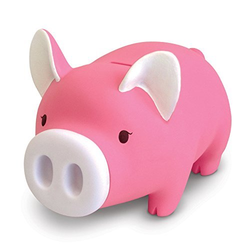 Cute Pig Piggy Bank, Pink Pig Bank Toy Coin Bank Decorative Saving Bank Money Bank Adorable Pig Figurine for Boy Girl Baby Kid Child Adult Pig Lover by DomeStar