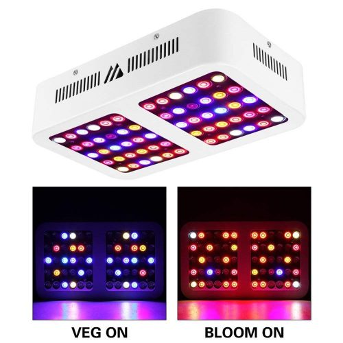 LED Grow Light 600W Full Spectrum Grow Light Reflector for Indoor Plants with Veg and Bloom Dimmable Switch