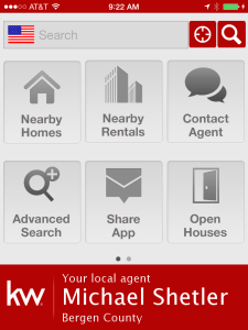Search for homes using my Mobile App