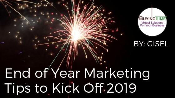 End of Year Marketing Tips to Kick Off 2019