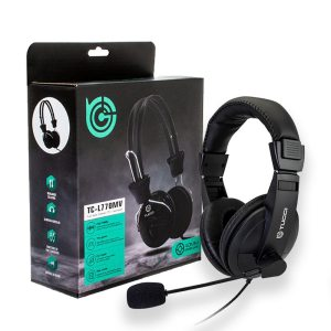 TUCCI Computer Headphones with Microphone - TC-L750MV Headphone and Package