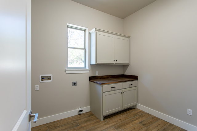 laundry room painted mindful gray
