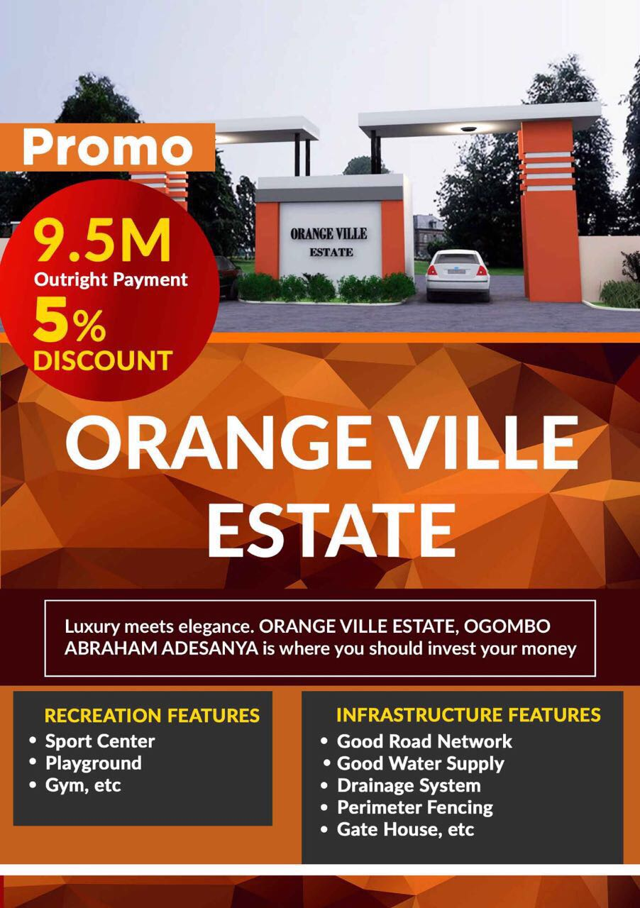 ORANGE VILLE ESTATE LEKKI SCHEME 2