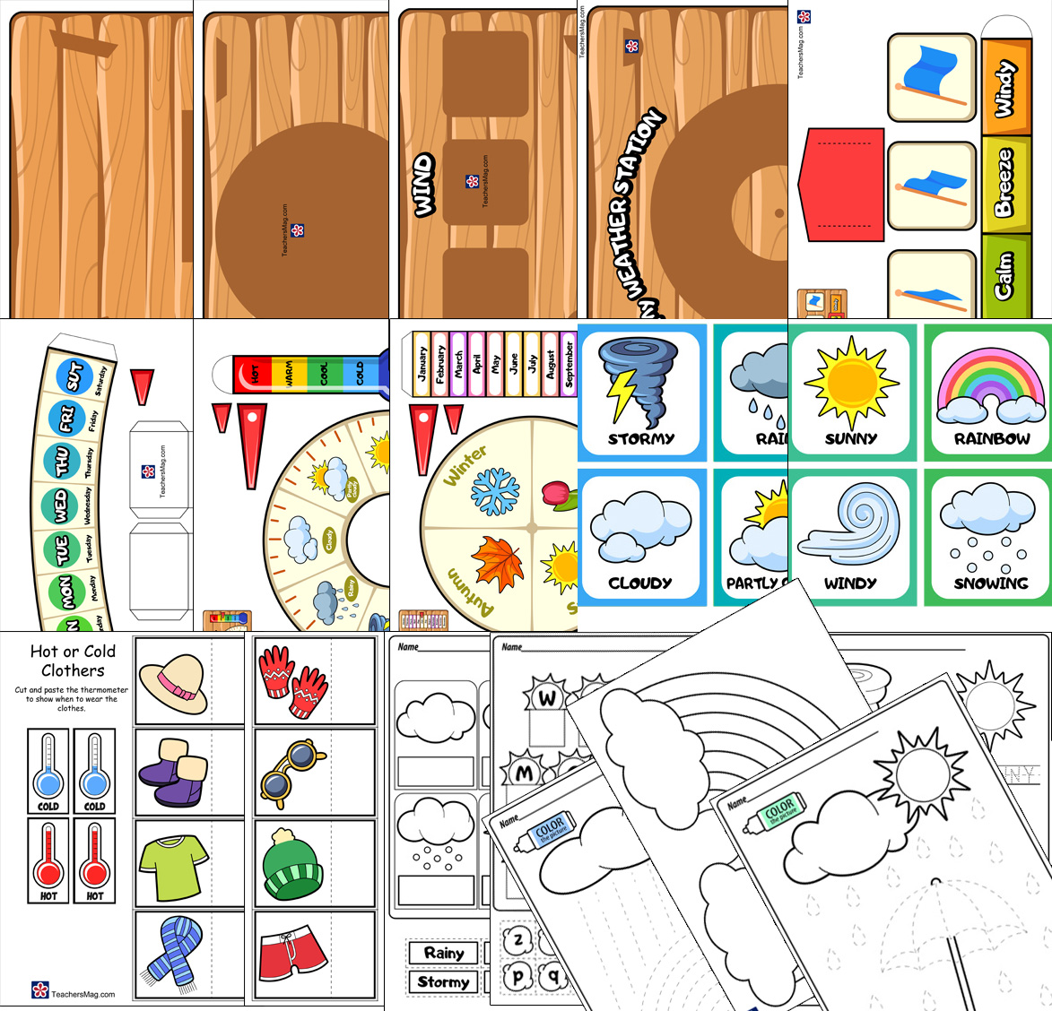 Weather Printable Activities And Worksheets Buylapbook