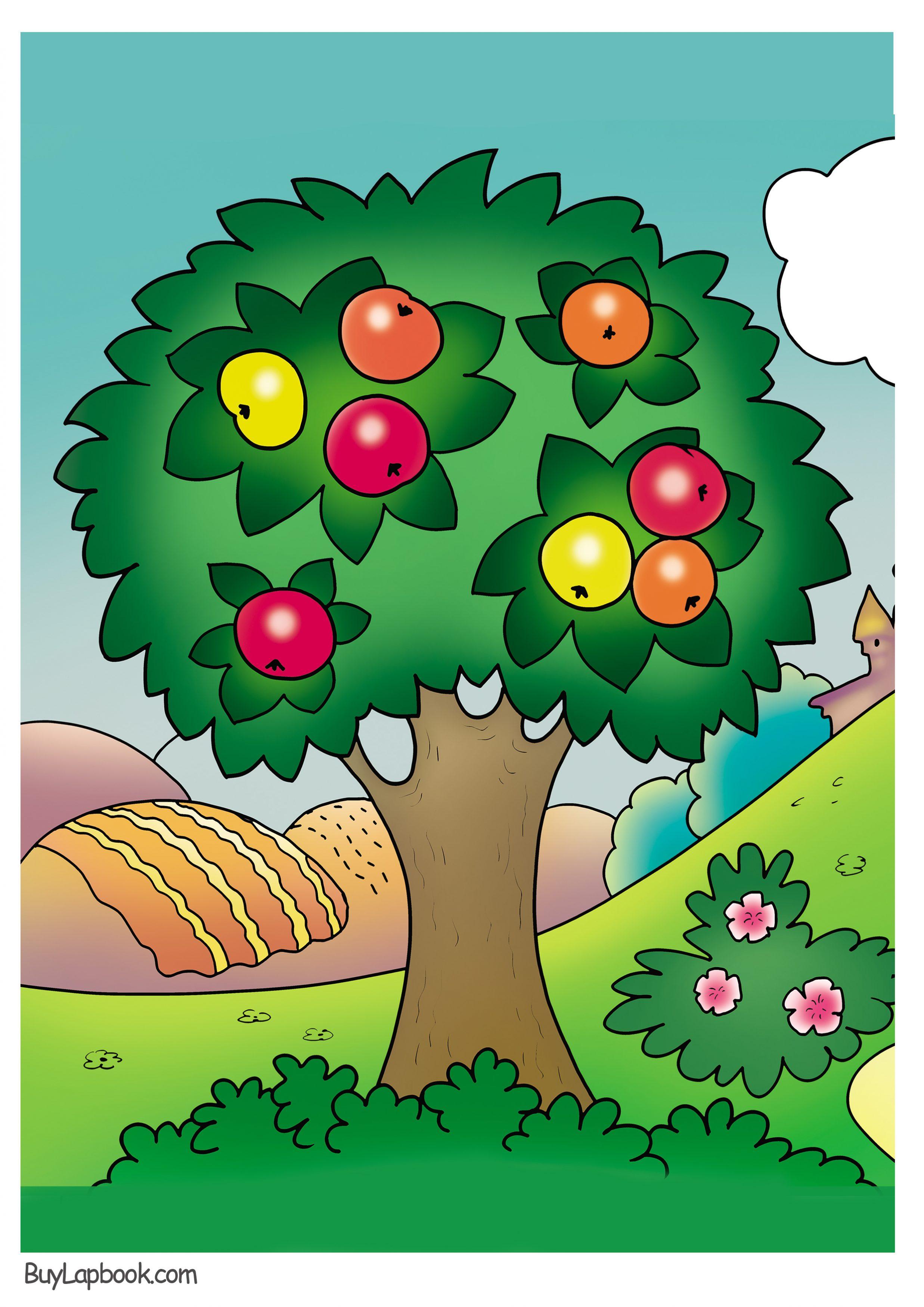 Apple Tree Coloring Page Free Printable Buylapbook