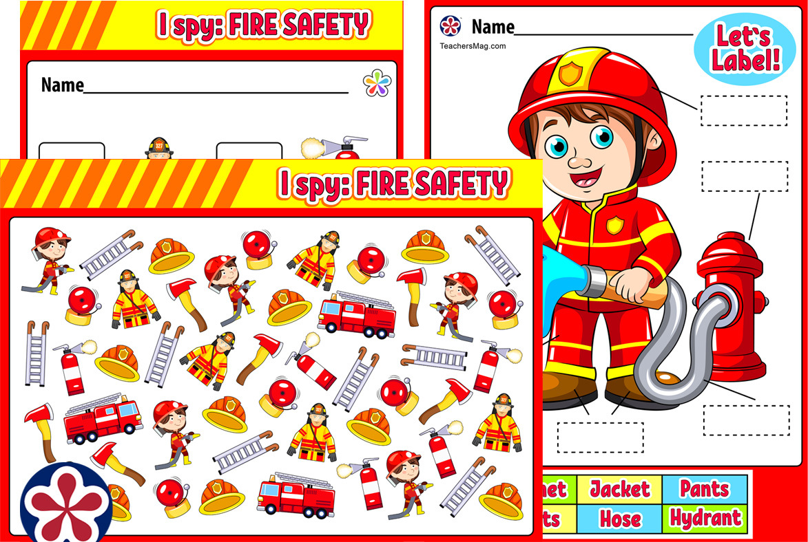Fire Safety Themed Worksheets And Activities Buylapbook