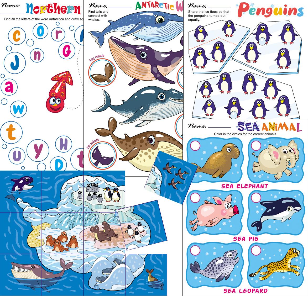 Arctic And Antarctic Animals Worksheets Buylapbook