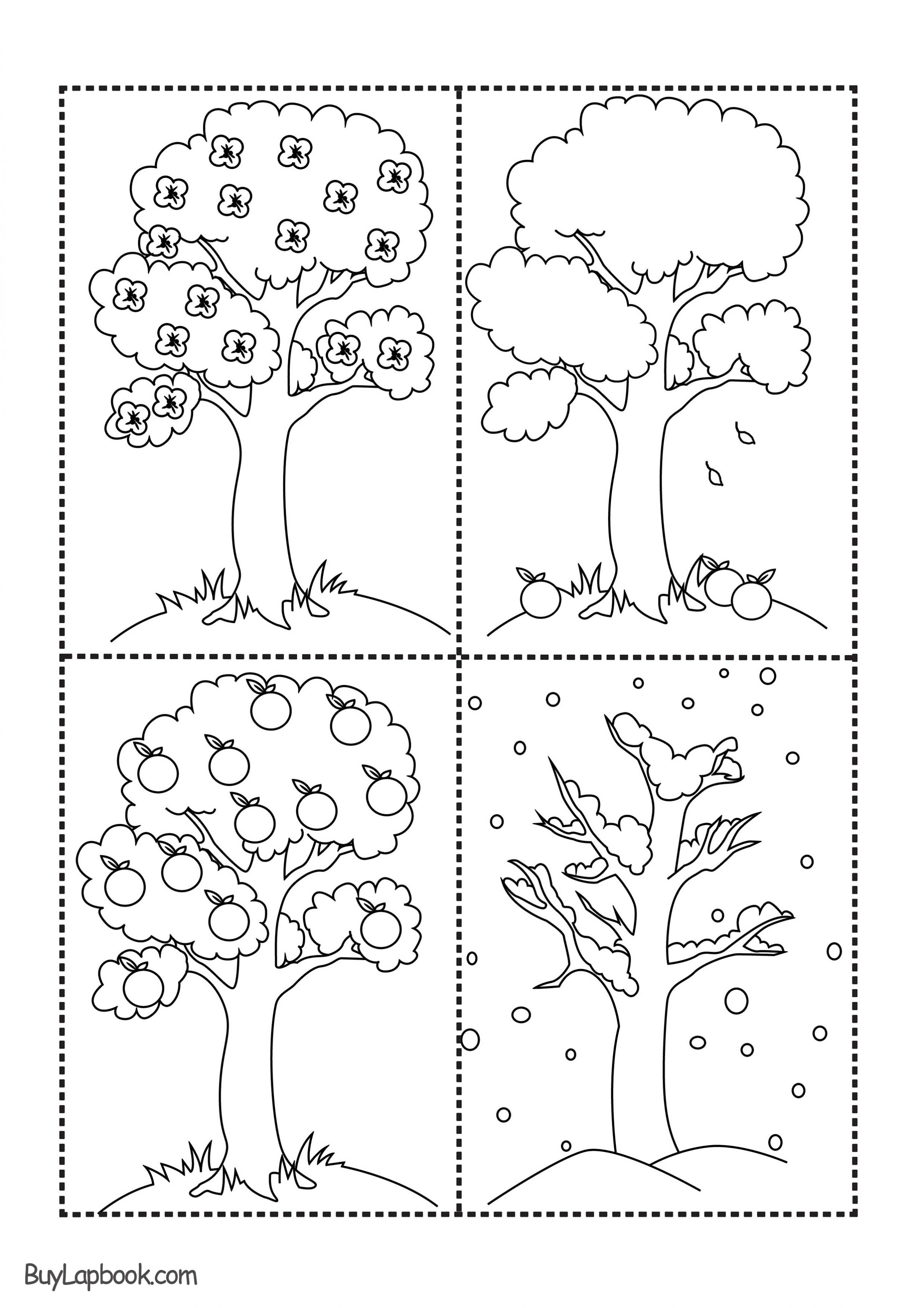 The Four Seasons Of The Apple Tree Printables Buylapbook
