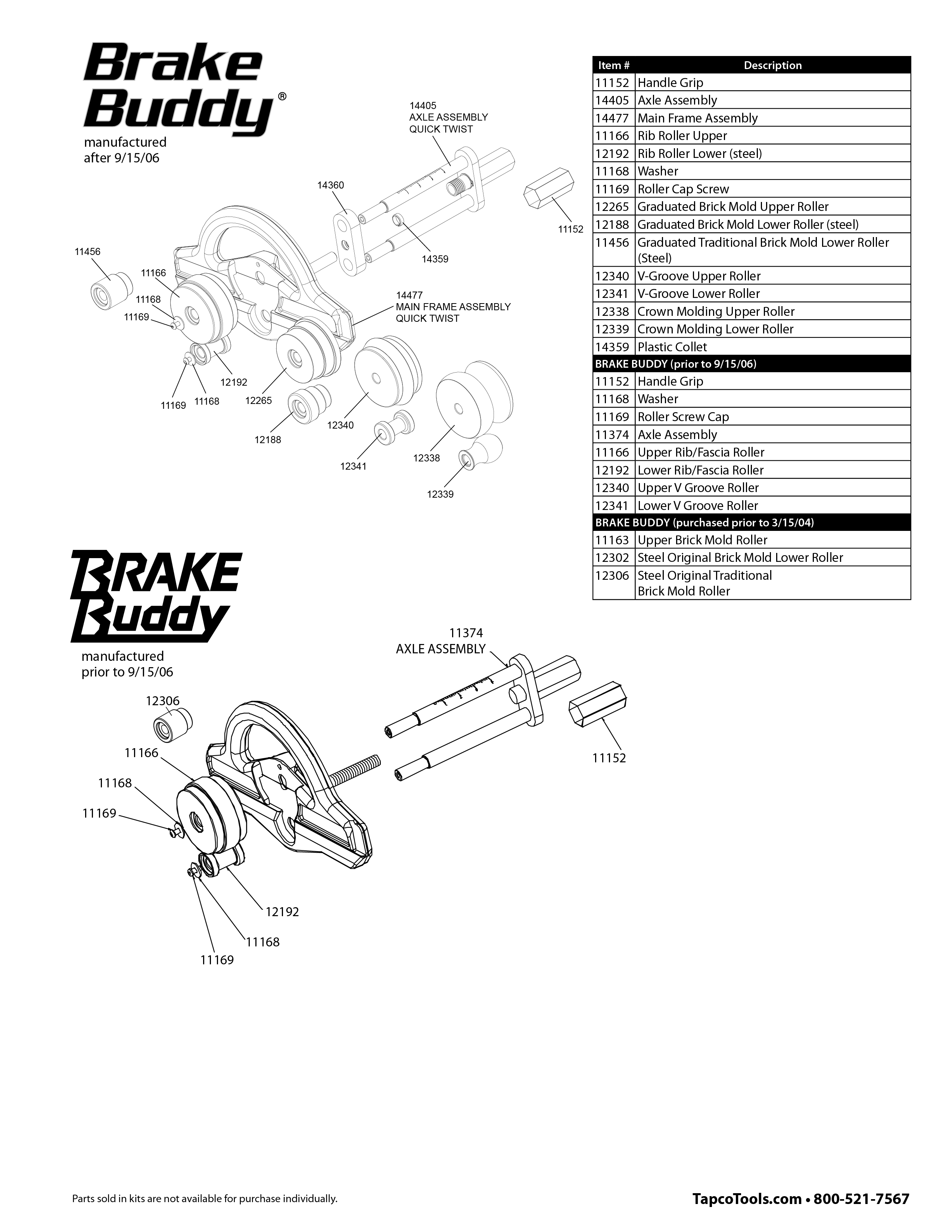 Brake Buddy Repair Parts Pictures To Pin