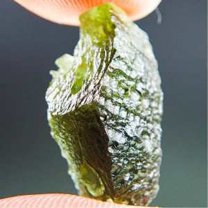 Moldavite with Open Bubble and 2 kinds of Sculpture 2