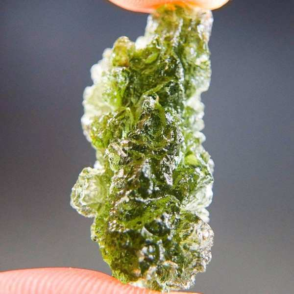 Excellent Natural Shape Authentic Moldavite With Certificate Of Authenticity (5.09grams)3