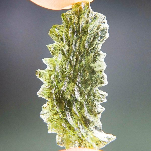 Unique Shape Moldavite From Basednice With Certificate Of Authenticity (2.61grams)3