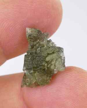 Authentic High Quality Small Genuine Raw Moldavite with Certificate of Authenticity (1.7grams)