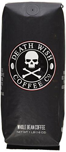 Death Wish Organic USDA Certified Whole Bean Coffee 16 Ounce Bag