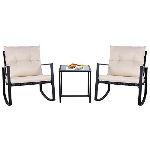 two chairs with glass coffee table beige cushion