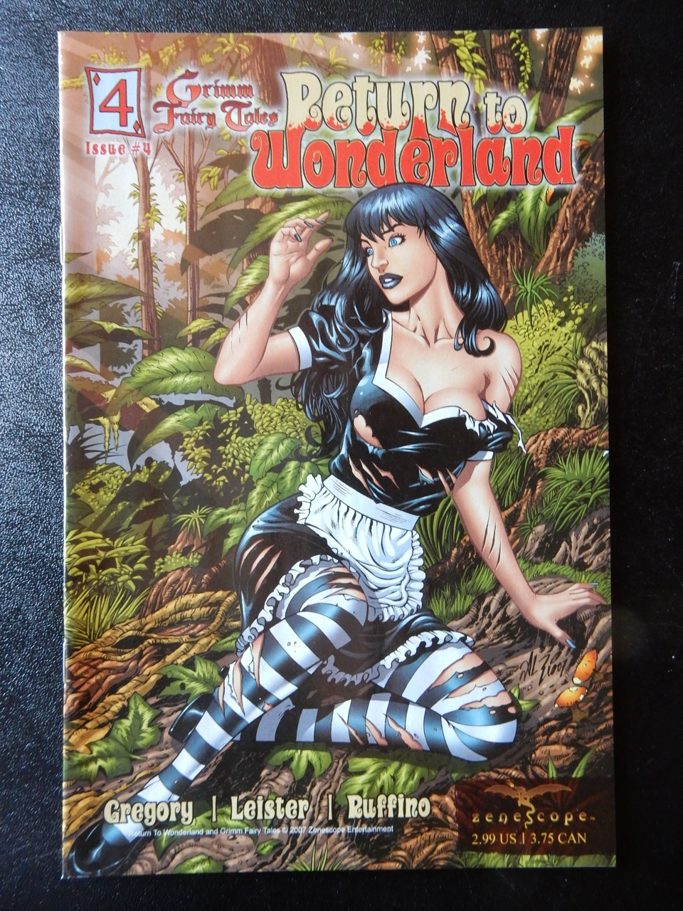 Return To Wonderland #4 – Calie Ripped Costume Cover by Al Rio