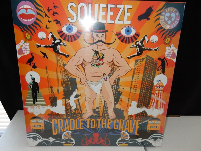 """Squeeze """"Cradle To The Grave"""" 2XLP Heavyweight Gatefold Import with Exclusives"""