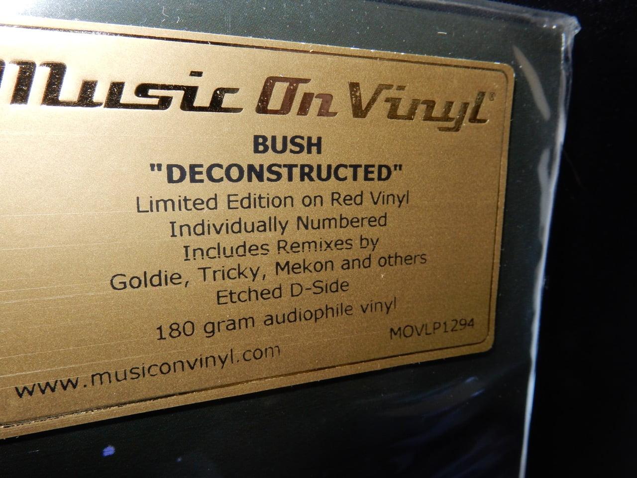 "Bush ""Deconstructed"" 2XLP Red Colored Vinyl Ltd Ed NEW"
