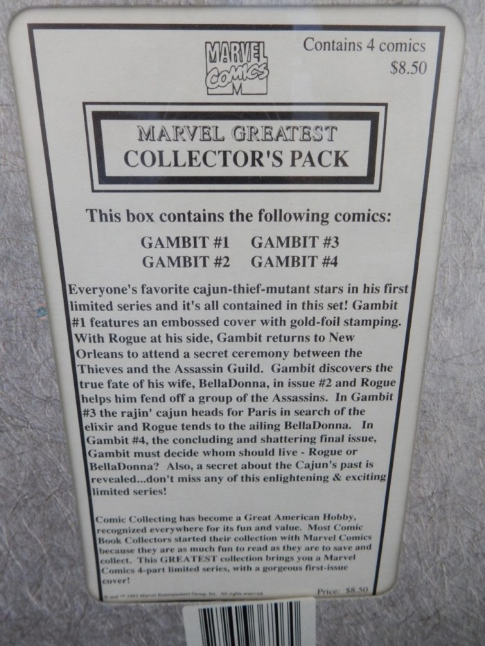 Marvel's Comics Greatest Collector's Pack Gambit #1 #2 #3 #4