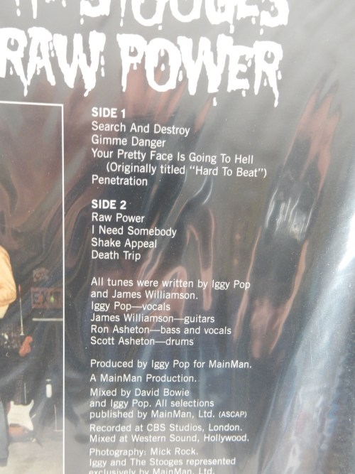 "Iggy And The Stooges ""Raw Power"" 2010 Sundazed Reissue Vinyl LP NEW SEALED"
