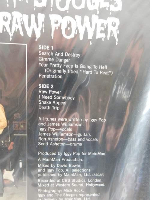 "Iggy And The Stooges ""Raw Power"" 2010 Sundazed Reissue Vinyl LP NEW SEALED"