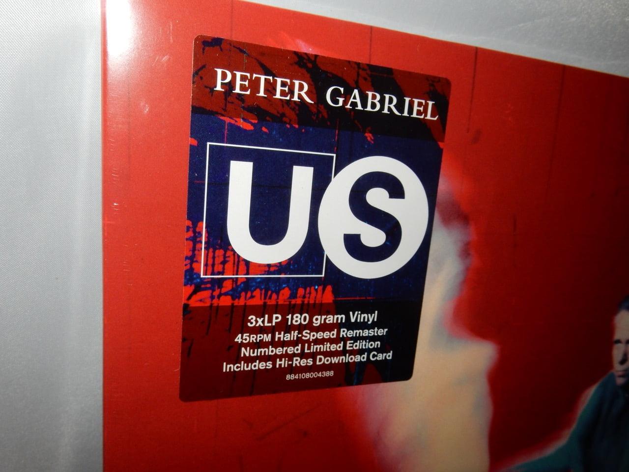 "Peter Gabriel ""Us"" 3XLP Vinyl Limited Edition Numbered Gatefold"