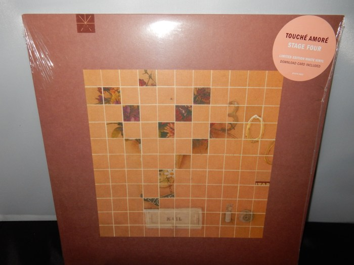 """Touche Amore """"Stage Four"""" Limited Edition White Vinyl 2016"""