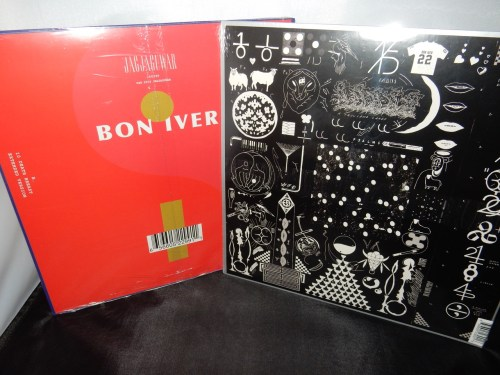 "Bon Iver Vinyl Collector's Set of 2 - ""22, A Million"" plus 12"" Red Vinyl titled ""22 / 10"""