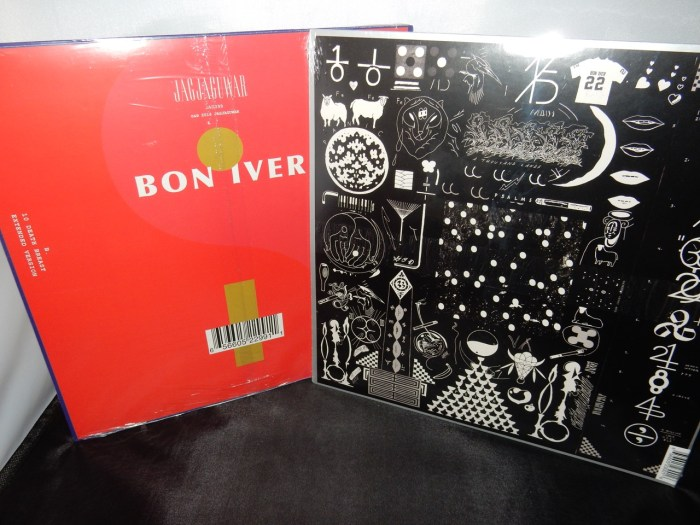 "Bon Iver Vinyl Collector's Set of 2 - ""22, A Million"" plus 12"" Red Vinyl titled ""22 / 10"""