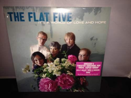 "Flat Five ""It's A World Of Love & Hope"" Bloodshot Records Kelly Hogan New Vinyl"