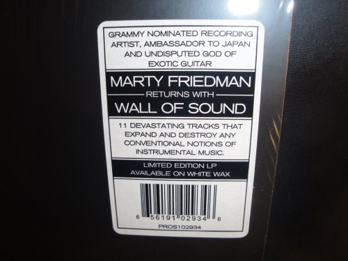 Marty Friedman - Wall Of Sound - Ltd Ed White Vinyl, 2017, Heavy Metal