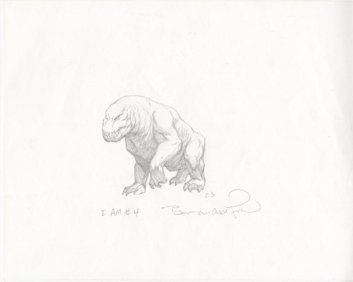 "BERNIE WRIGHTSON original art ""I Am Number 4"" Movie Creature Concept Art"