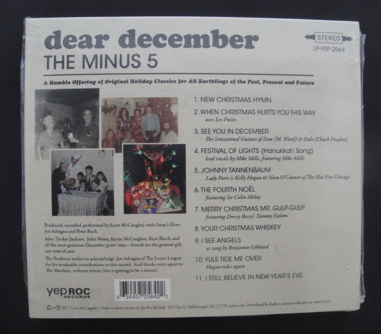 The Minus 5 - Dear December - Christmas CD (Compact Disc), Yep Roc, 2017