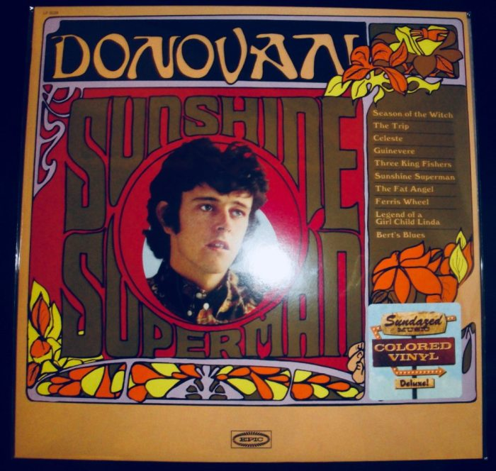 Donovan - Sunshine Superman - Limited Orange Colored Vinyl, LP, Sundazed, 2018